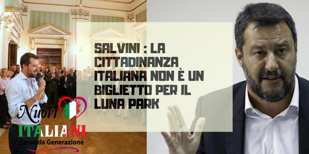 La cittadinanza italiana non è un biglietto per il luna park